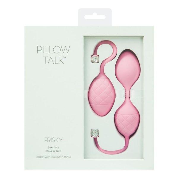 Swan Pillow Talk Frisky Kegel Balls - Pink