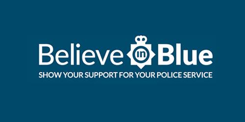 believe blue logo