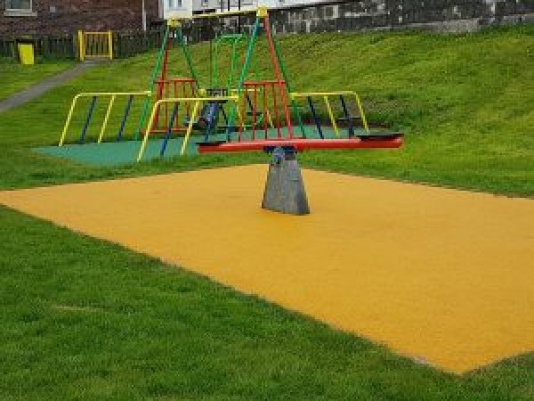 see-saw and swings