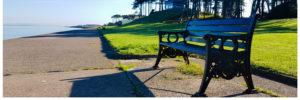 park bench on promenade