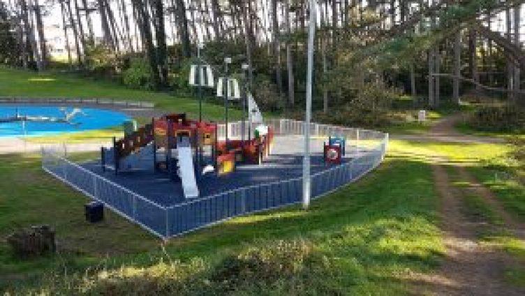 children's pirate ship play area