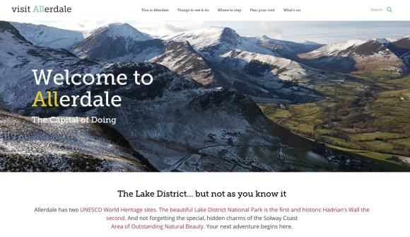 visit allerdale website frontpage