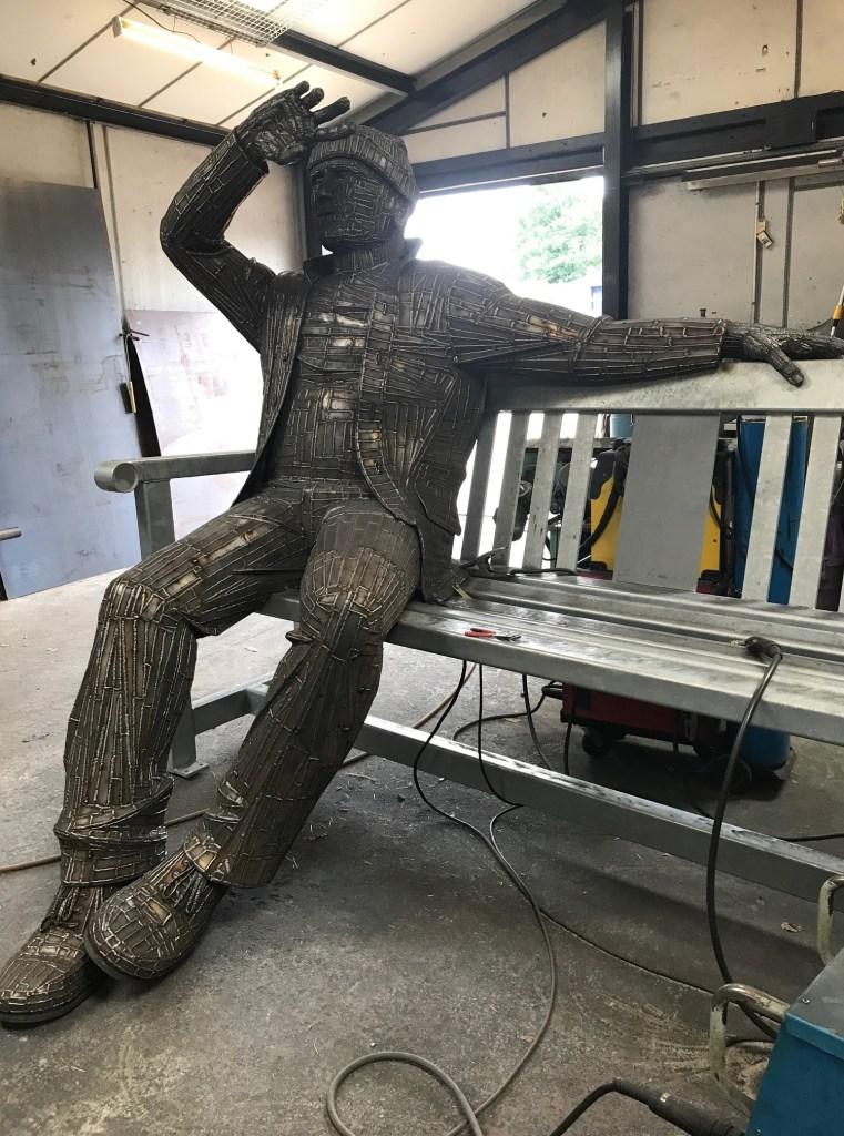 creation of big fella sculpture
