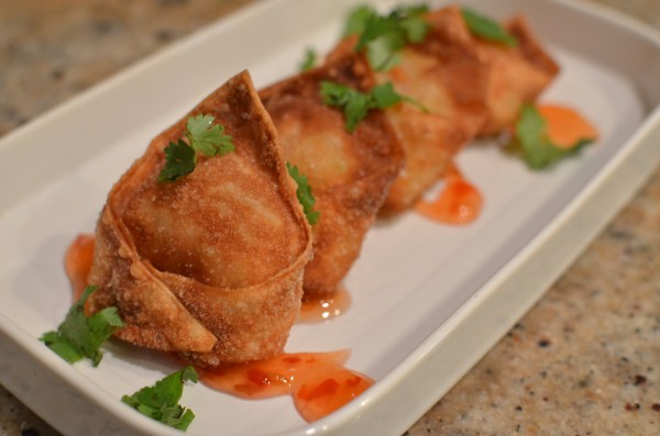 Wontons plated