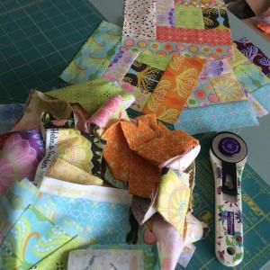 Playing with tamarakatedesign fabric today! What are you doing?? happyhellip