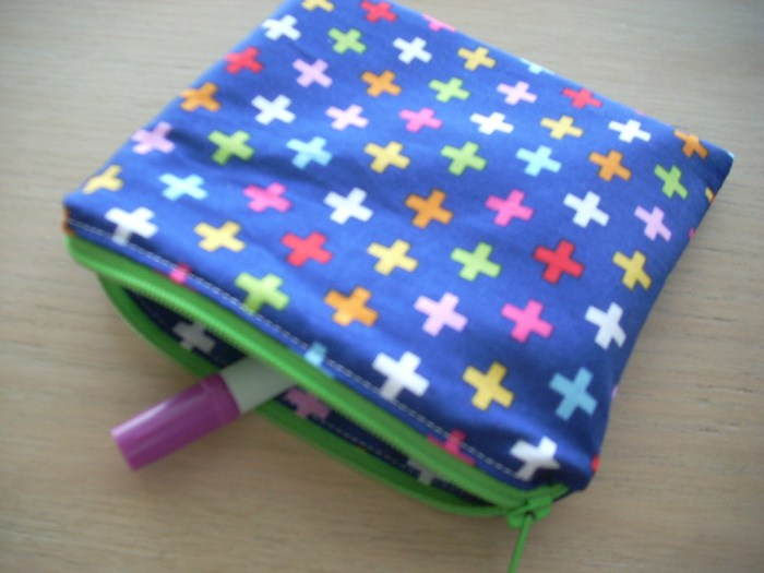 multi cross zippered pouch