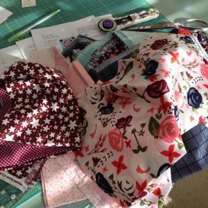 patterntesting today using carinagardner rileyblakedesigns posygardenfabric while enjoying some sunhellip
