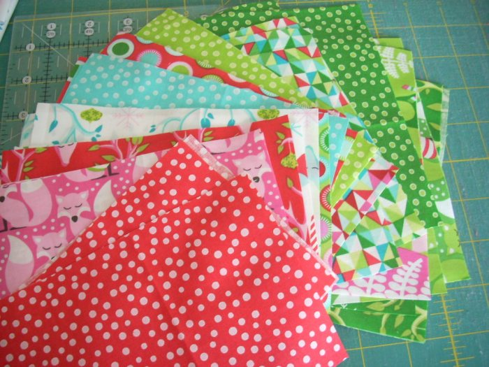 festive forest fabric