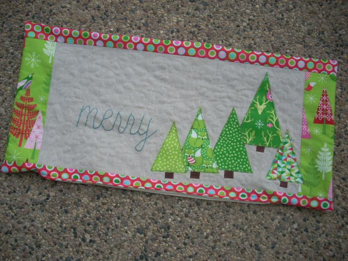 festive forest pillow cover