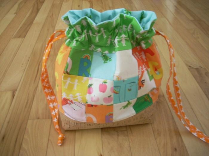 kinder drawstring bag
