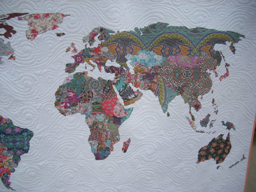 world map quilt + winners | Silly Mama Quilts
