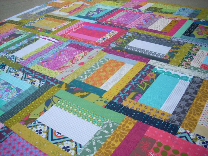 two sided quilt top finish