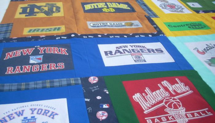 t-shirt quilt top
