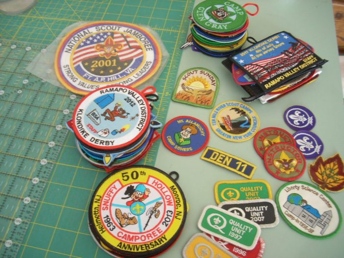 sorting boy scout patches