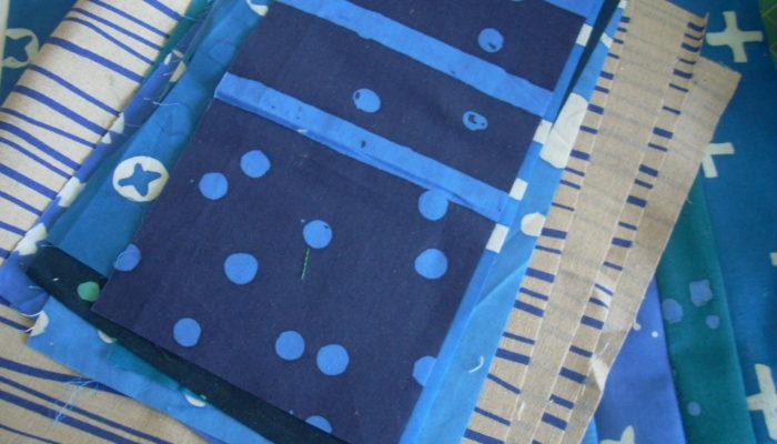 blue indigo sewing