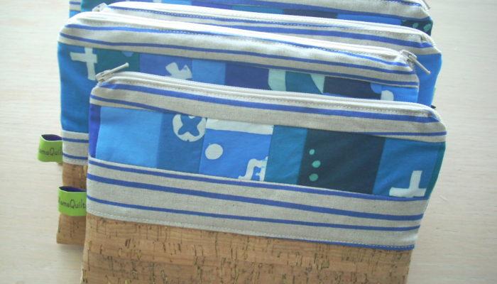 blue indigo pouches