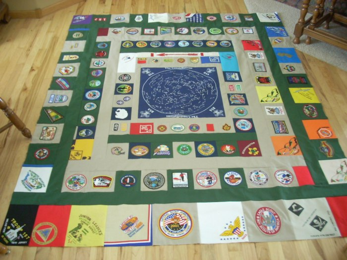 almost done boy scout quilt