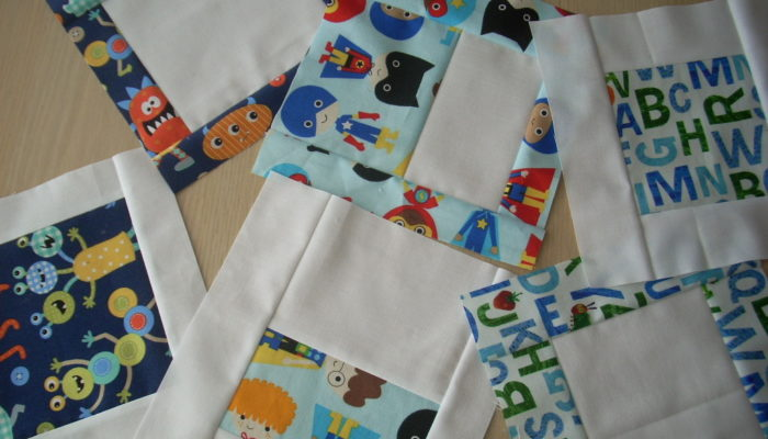 bright baby boy quilt project