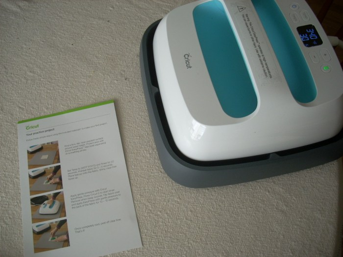 cricut maker + easy press new project