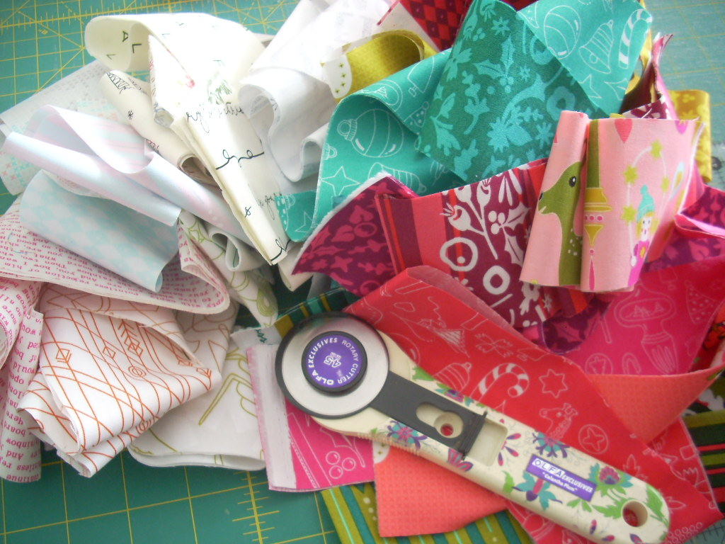 sewing holiday strips