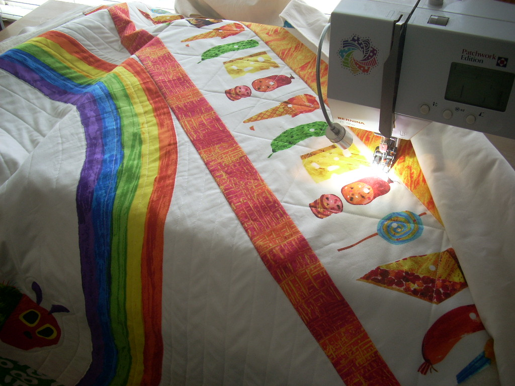 quilting in sections