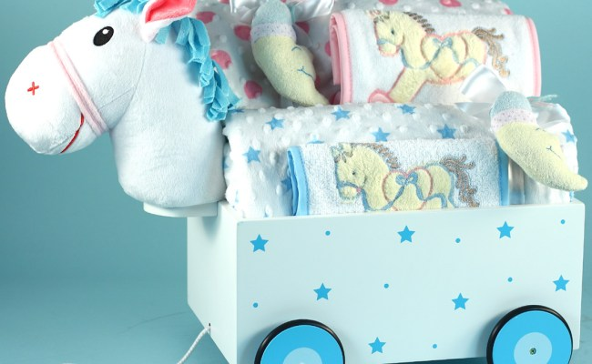 Unique Gift For Twins Pony Wagon Gift Set Silly Phillie