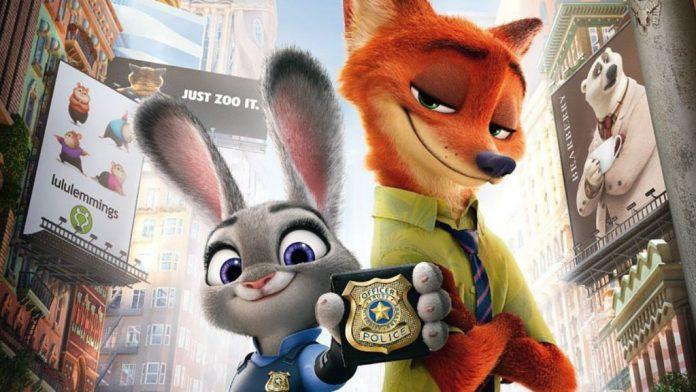 """Immagine dal film """"Zootropolis"""", Migliori film d'animazione 2016"""