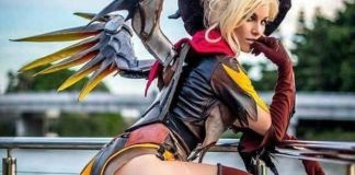 Overwatch Mercy Witch Cosplay