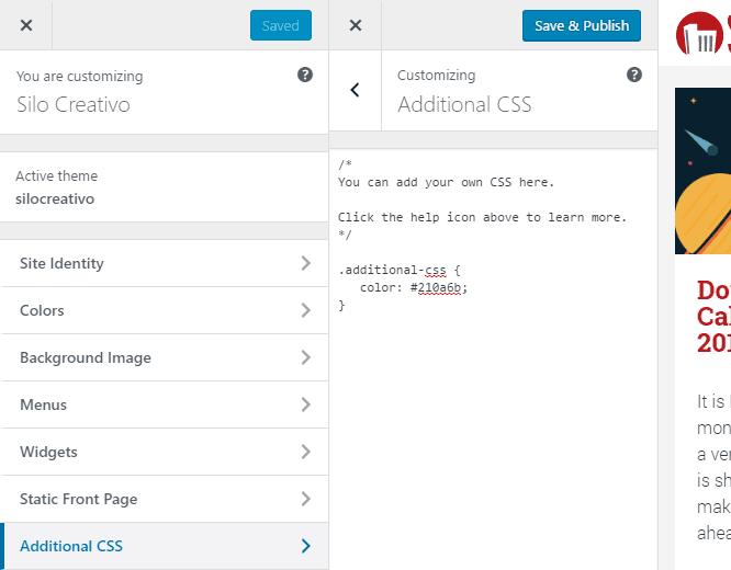How to modify or add CSS to your WordPress Theme • Silo Creativo