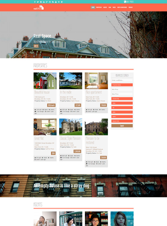 RealSpace – Responsive WordPress Real Estate Theme