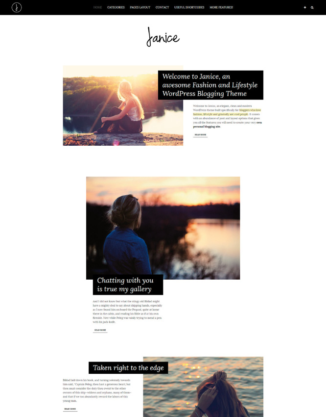 Knowing Janice: Our WordPress template for fashion bloggers! • Silo ...