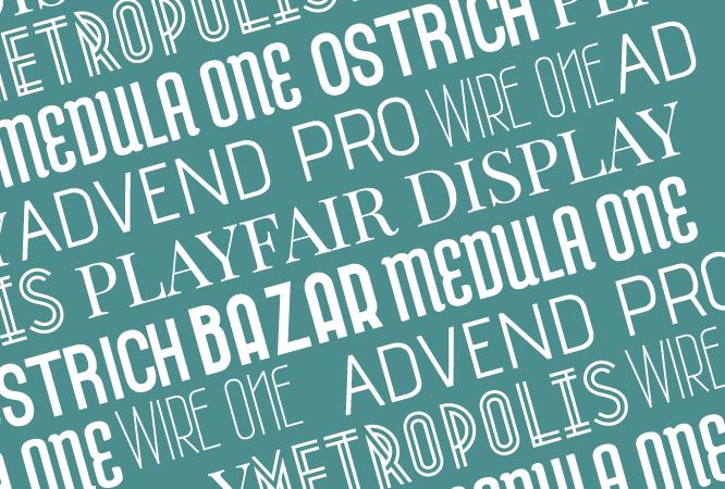 tipografías google fonts