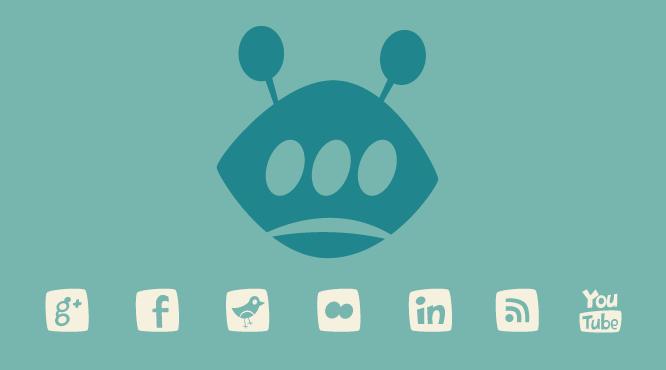 Iconos sociales en WordPress