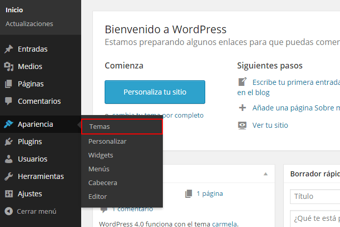 Como Instalar un Tema en WordPress: Tutorial • Silo Creativo
