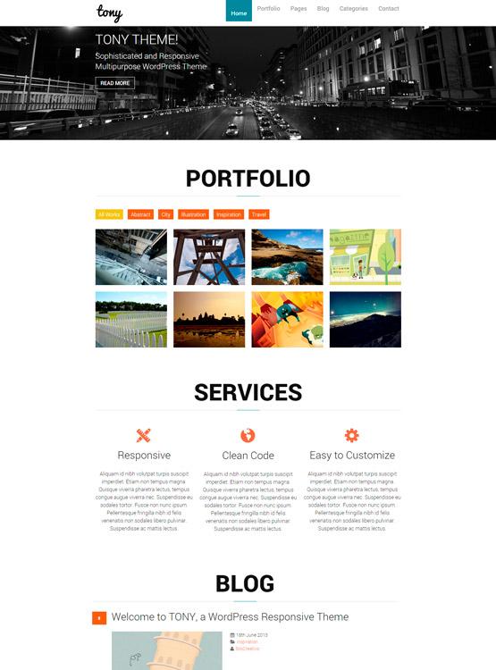 Tony: Plantilla WordPress para Portfolio • SiloCreativo