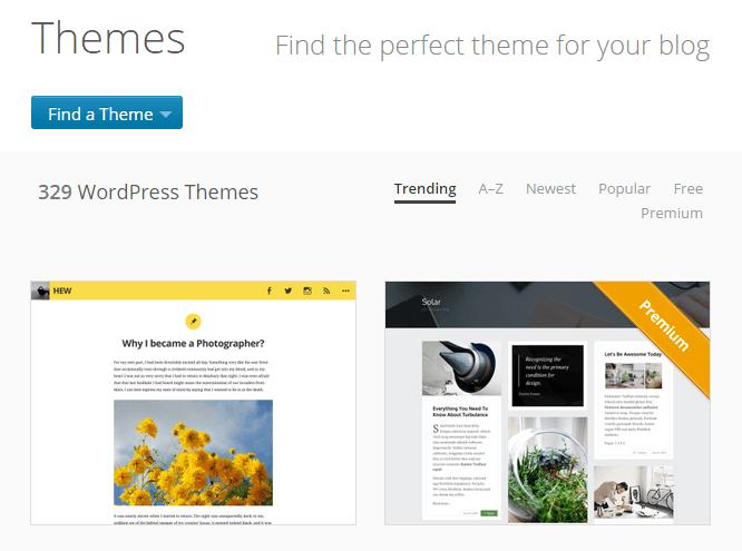 Plantillas para WordPress.com