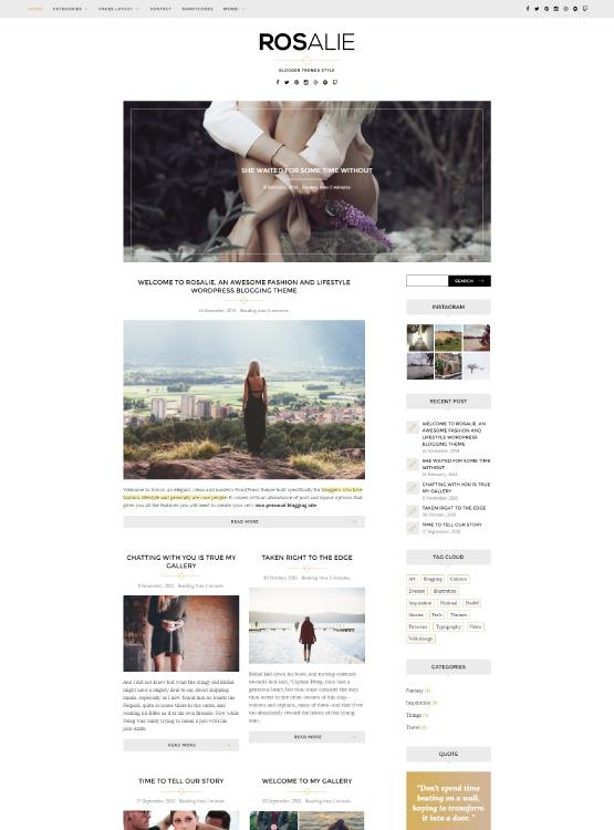 Conociendo a Rosalie: nuestra Plantilla para WordPress para blogs de ...