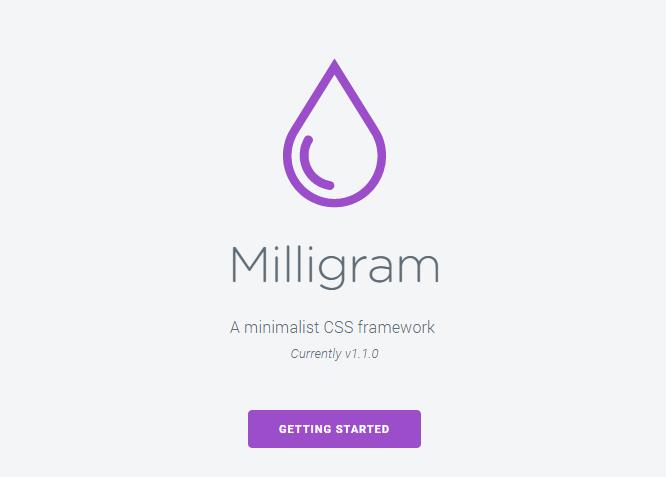 Framework CSS Milligram