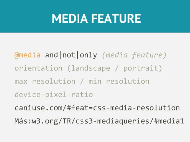 Media Features avanzadas en CSS