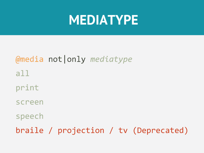 Media Type en Media Query en CSS