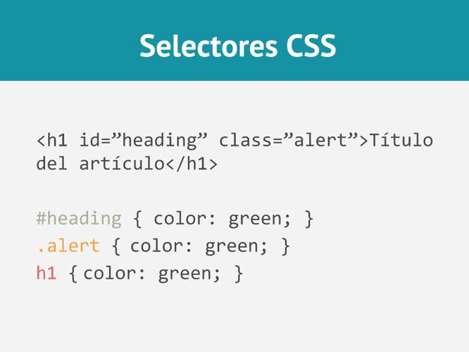 Ejemplo selectores en CSS