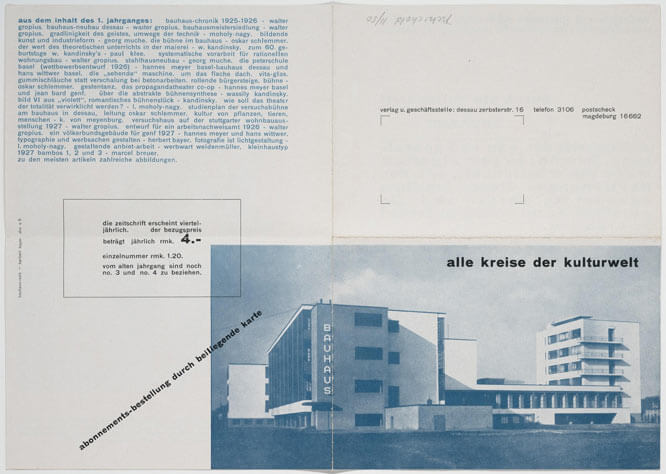 Herbert Bayer y el espacio en blanco