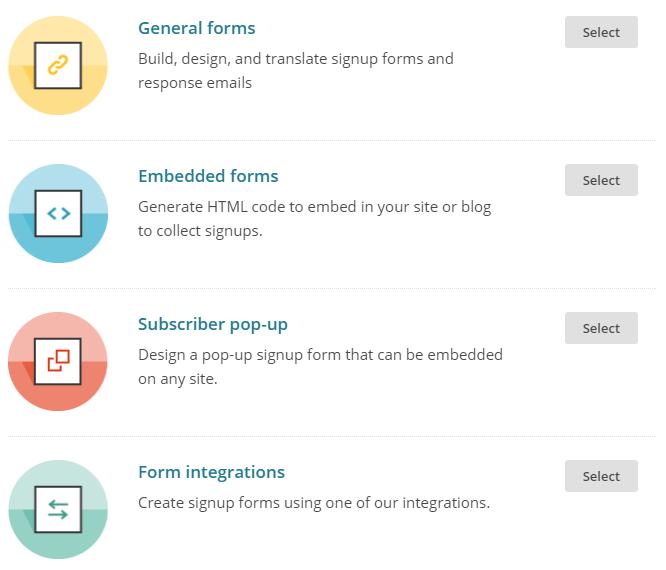 Crear formulario de correo con Mailchimp