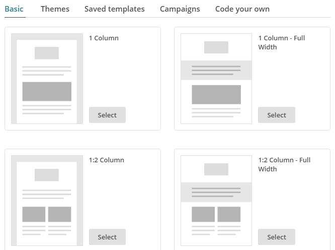 Plantillas de Newsletter para Mailchimp
