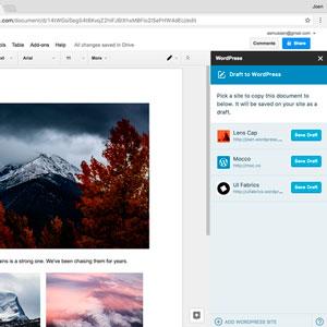Integración de WordPress.com en Google Docs