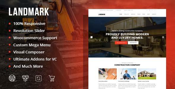 Landmark, plantilla WordPres para Agencias Inmobiliarias