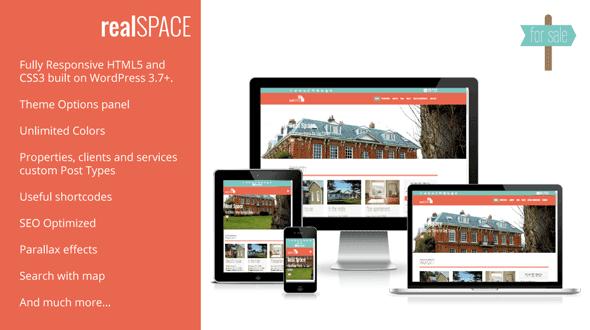 RealSpace, plantilla WordPres para Agencias Inmobiliarias