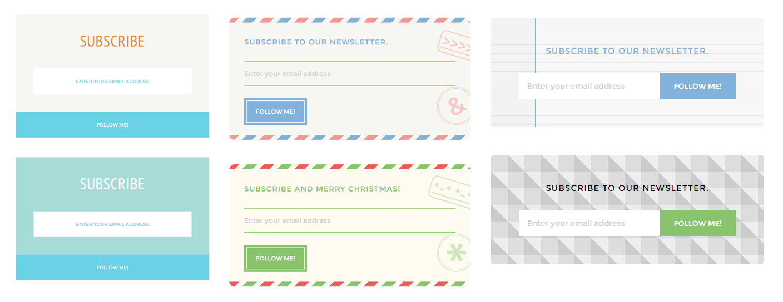 Ejemplos diseños de formularios para newsletter con CSS