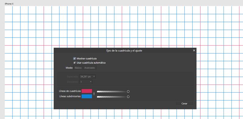 Modificación de los colores de la cuadrícula