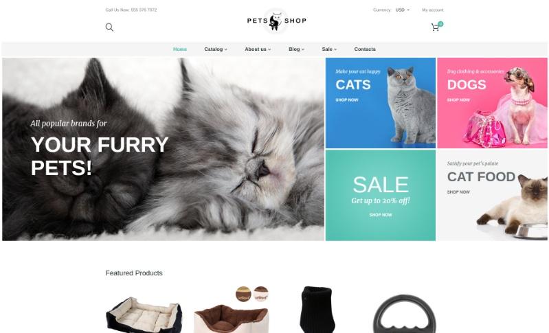 PetShop, plantilla para Shopify